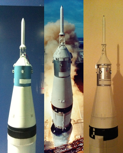 Bandaï Saturn V Apollo 11 & 13 au 1:144, bientôt reproduites Saturn_V